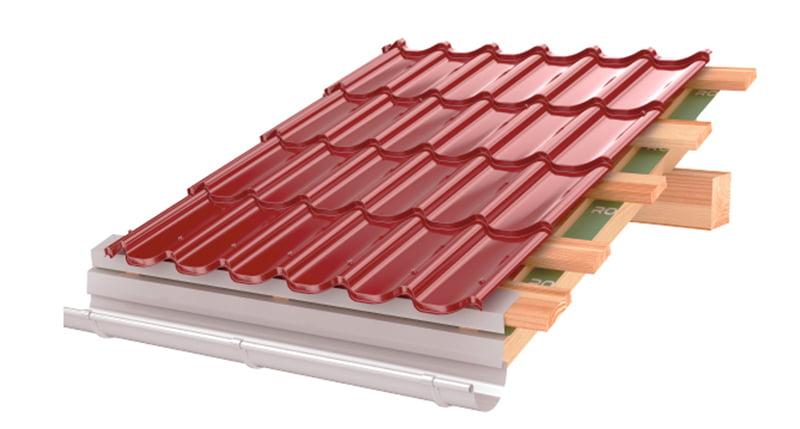 tigla metalica rosie lucioasa roofart
