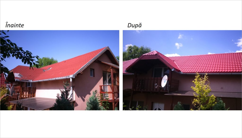 Renovare acoperis, schimbare acoperis, tigla metalica, schimbare sindrila bituminoasa