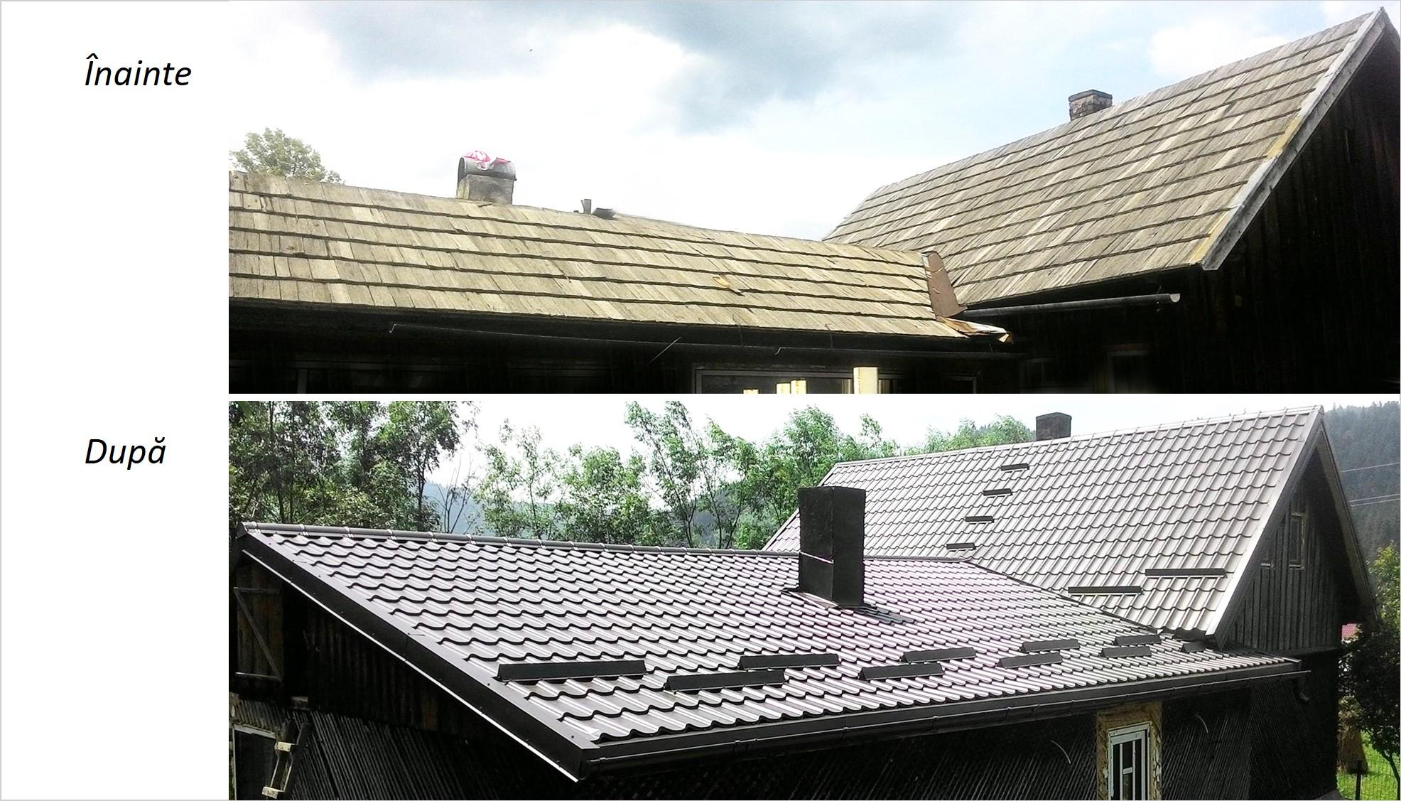 renovare acoperis, schimbare acoperis, inlocuire sita, tigla metalica