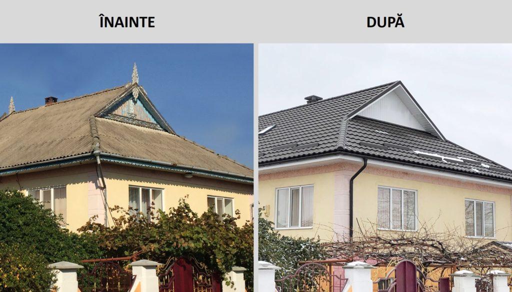 Renovare acoperis, inainte si dupa, reabilitare achoperis, schimbare acoperis
