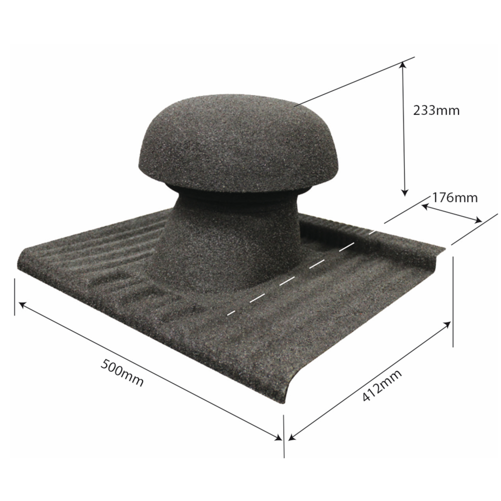 element ventilatie circular acoperis tigla cu roca vulcanica tilcor