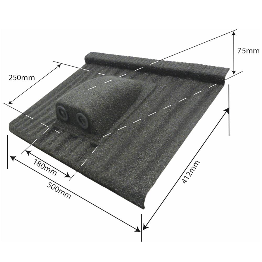 element ventilatie tub dublu acoperis tigla cu roca vulcanica tilcor